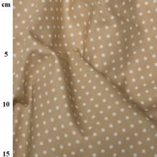 100% Cotton Soft Beige Polka Dot Print Fabric x 0.5m